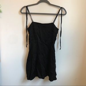 Silk Mini Dress / Tunic Black